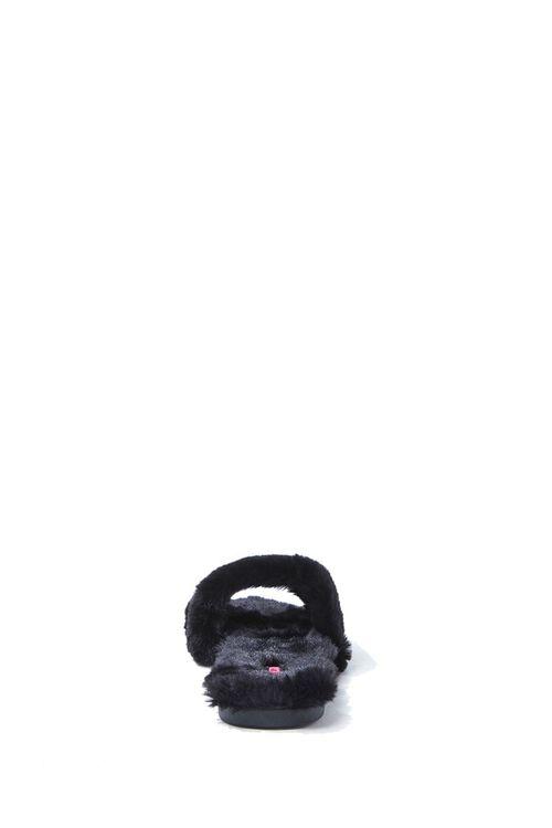 BLACK Faux Fur Slippers, image 2