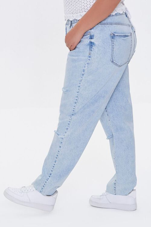 Plus Size Distressed High-Rise Jeans, image 3