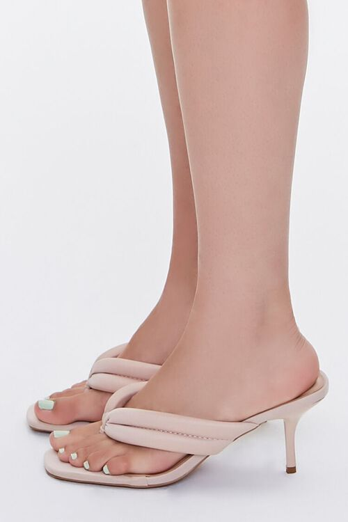Quilted Thong-Toe Heels, image 2