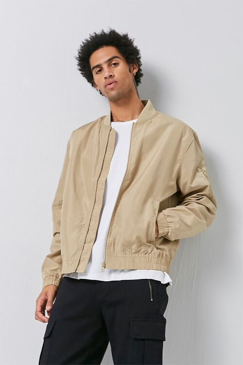 Zippered Bomber Jacket, image 1