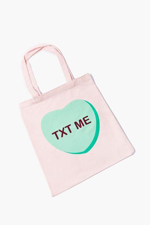 PINK/MULTI Txt Me Candy Tote Bag, image 1