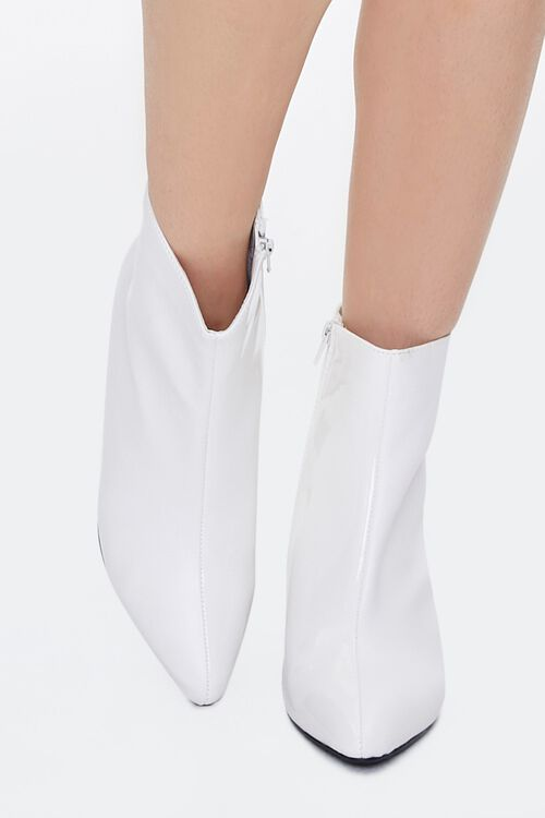 Faux Patent Leather Booties, image 4