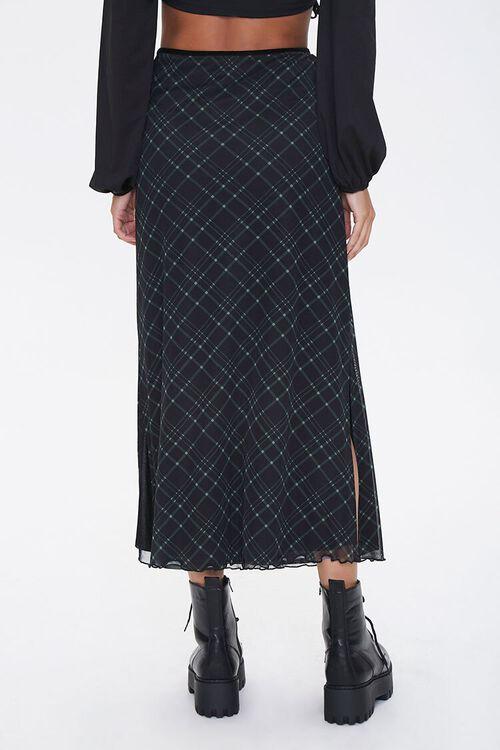 BLACK/MULTI Plaid A-Line Midi Skirt, image 4