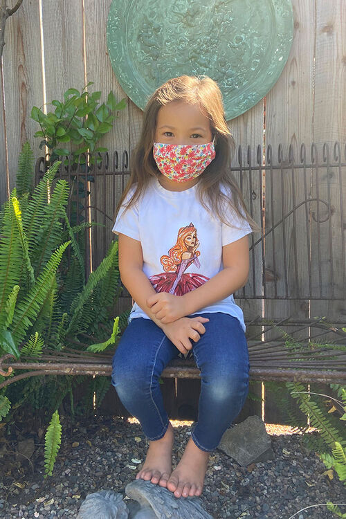 Girls Printed Face Mask (Kids), image 4