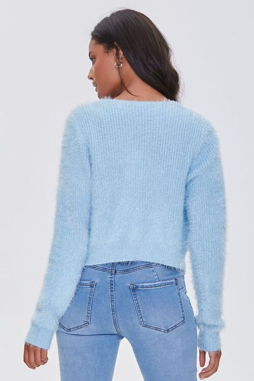 DUSTY BLUE Cami Cardigan Sweater-Top, image 3