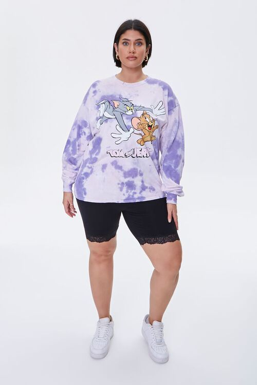 Plus Size Tom & Jerry Long-Sleeve Tee, image 4