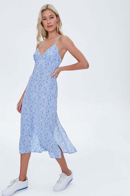 Floral Cami Midi Dress, image 1