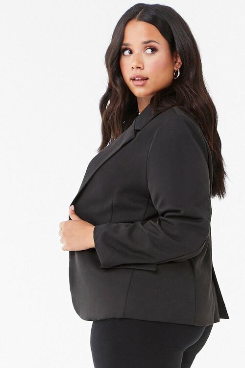 Plus Size Notched Collar Blazer, image 2