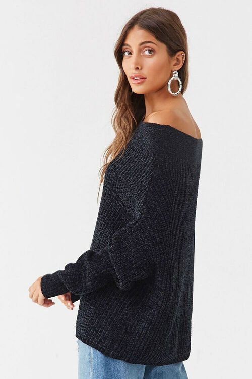Chenille Off-the-Shoulder Sweater, image 2