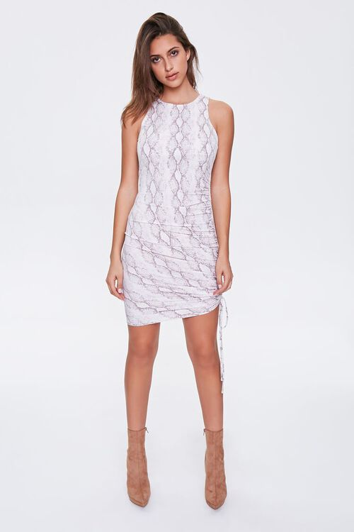 Snake Print Drawstring Dress, image 4