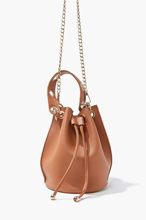 Faux Leather Bucket Bag, image 3