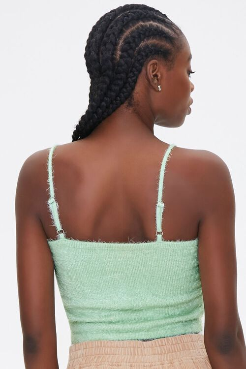 MINT Fuzzy Knit Cropped Cami, image 3