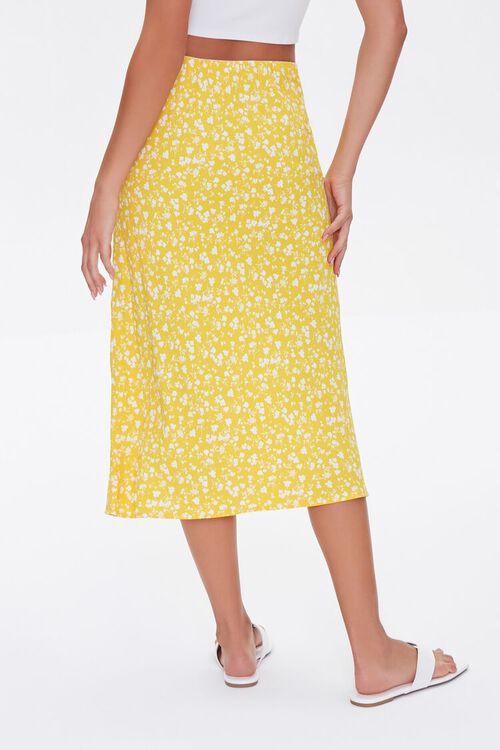 Floral Print Midi Skirt, image 4