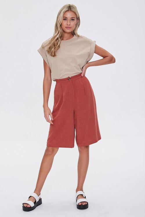 Linen-Blend Bermuda Shorts, image 5