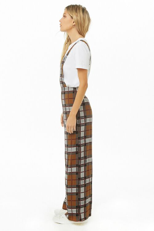 Plaid Print Pinafore Jumpsuit, image 2