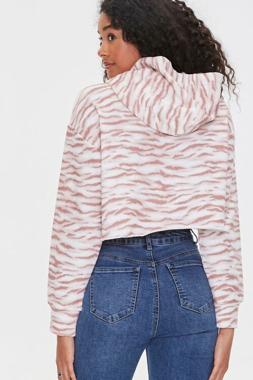 Tiger-Striped Cropped Hoodie, image 3