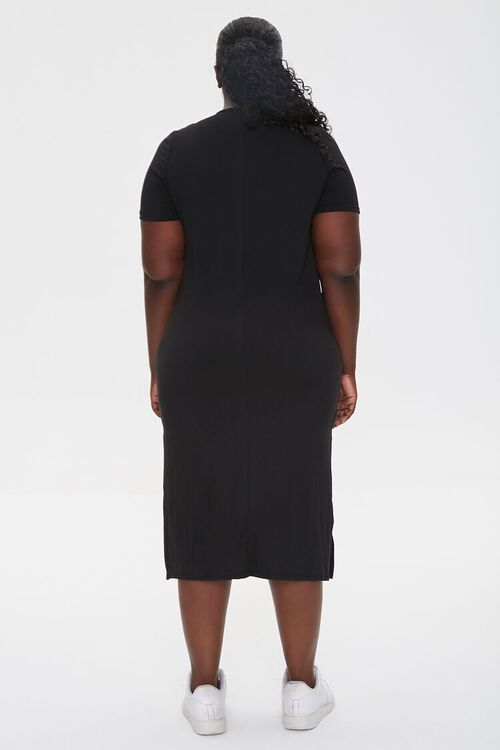 Plus Size Midi T-Shirt Dress, image 3
