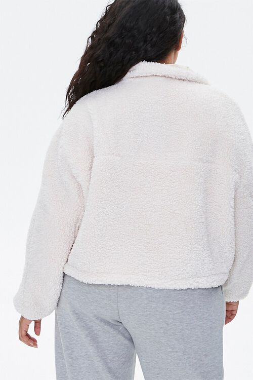 Plus Size Faux Shearling Jacket, image 3
