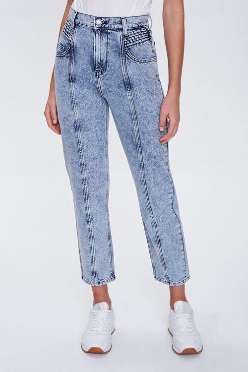 Seamed Straight-Leg Jeans, image 4