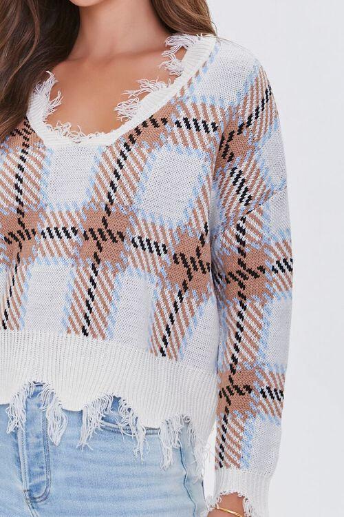 Frayed Plaid Sweater, image 5