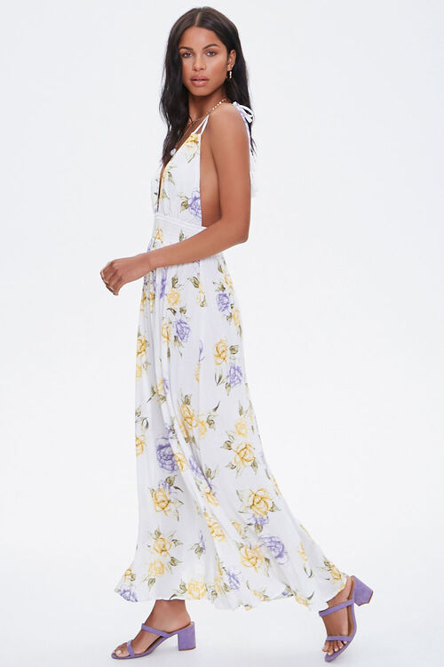Floral Plunging Maxi Dress, image 2