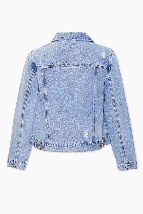 Plus Size Distressed Denim Jacket, image 3