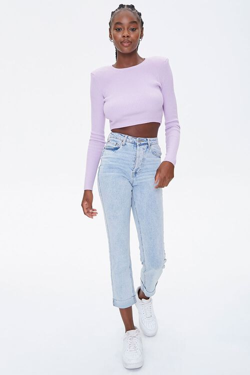 Shoulder-Pad Cropped Sweater, image 4