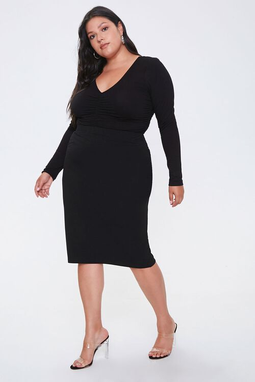 Plus Size High-Rise Skirt, image 5
