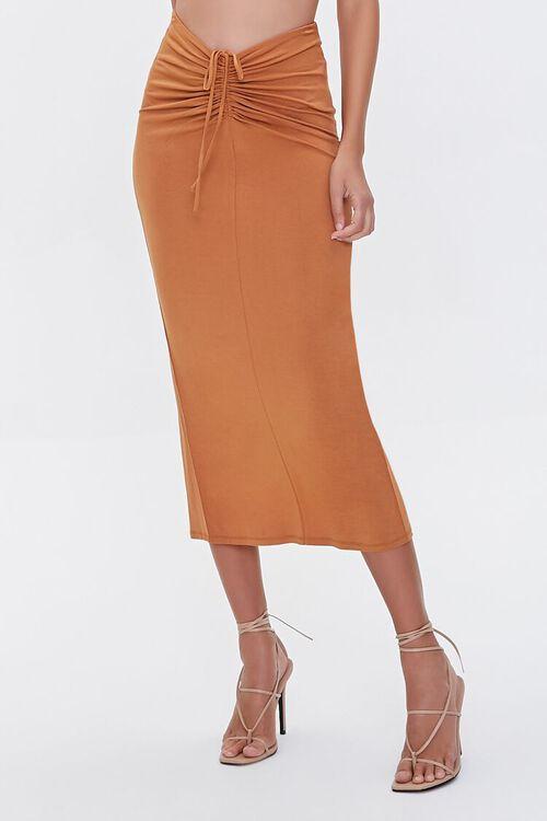 Ruched Halter Top & Midi Skirt Set, image 5