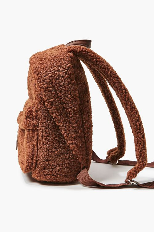 Faux Shearling Zippered Backpack, image 2