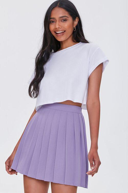 Pleated Mini Skirt, image 1