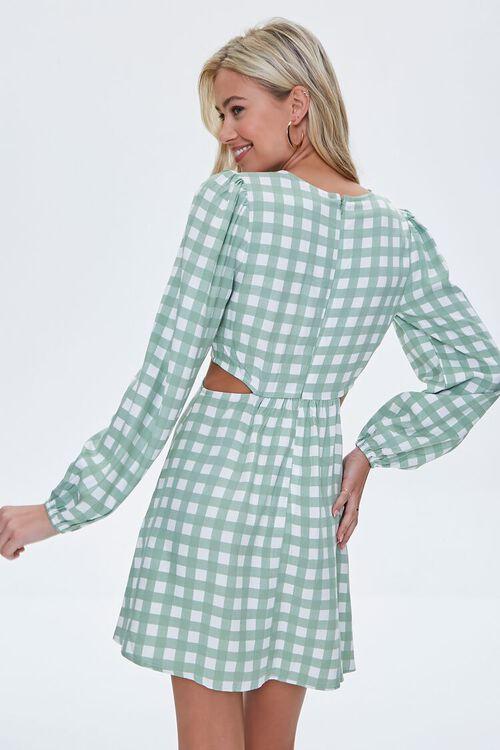Gingham Cutout Mini Dress, image 3