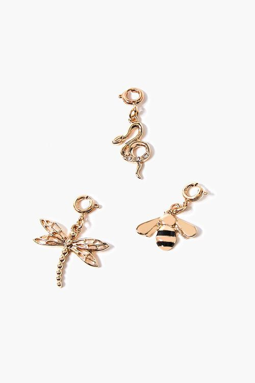 GOLD/BLACK Dragonfly Charm Set, image 1