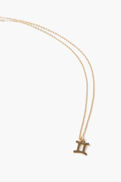 GOLD Gemini Charm Necklace, image 1