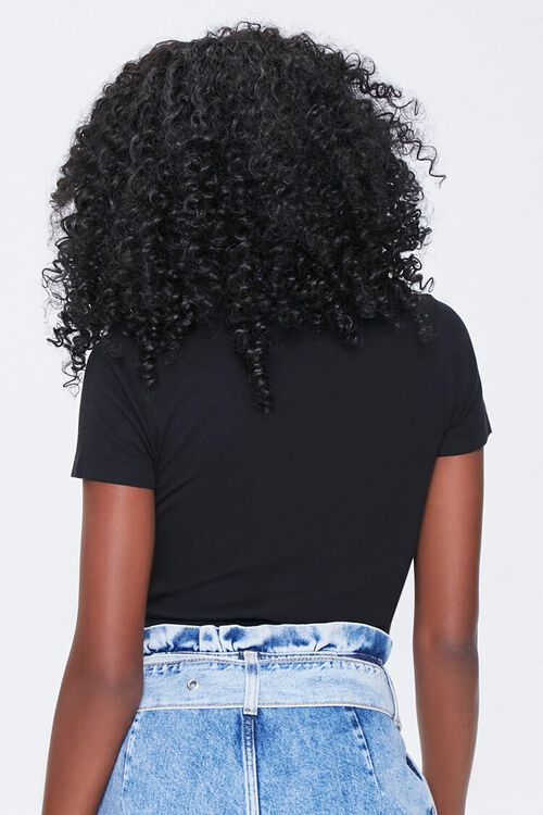 BLACK Button-Front Cropped Shirt, image 3