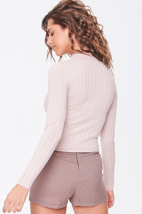 Mock Neck Lettuce-Edge Sweater, image 3