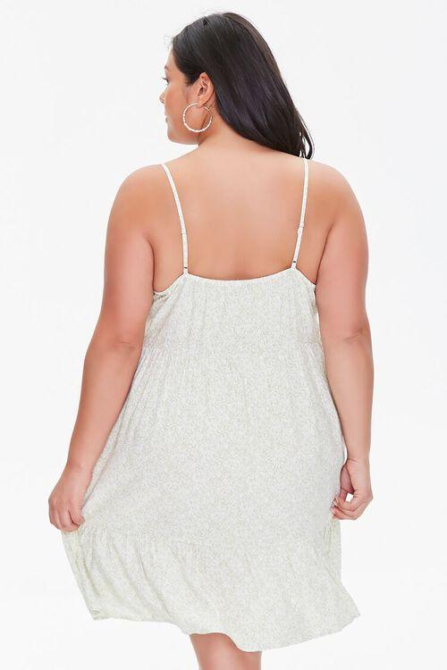 Plus Size Floral Cami Mini Dress, image 3