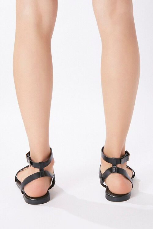 Caged Flat Sandals, image 4