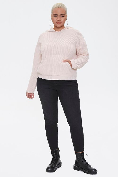 Plus Size Sweater-Knit Hoodie, image 4