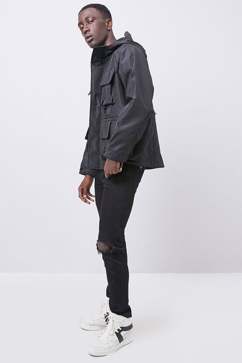 Zip-Up Hooded Utility Jacket, image 4