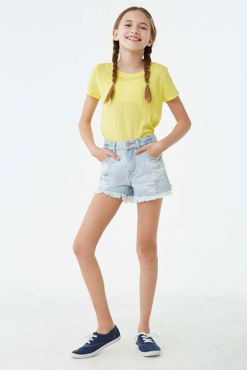 Girls Distressed Denim Shorts (Kids), image 4