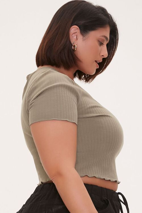 Plus Size Ribbed Crop Top, image 2