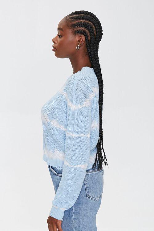 BLUE/CREAM Striped Tie-Dye Sweater, image 2