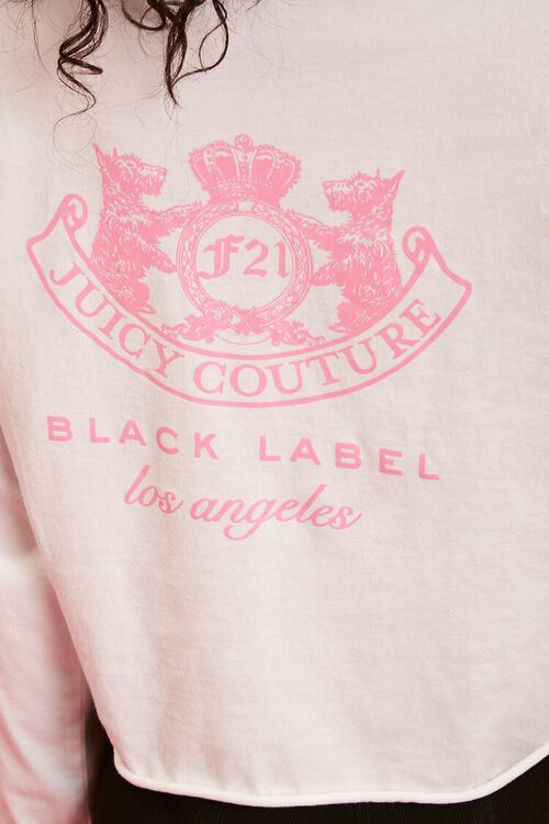 WHITE/PINK Juicy Couture Graphic Top, image 6