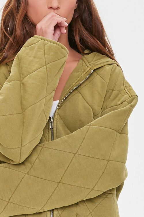 Quilted Zip-Up Hoodie, image 2