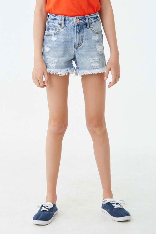Girls Distressed Denim Shorts (Kids), image 2