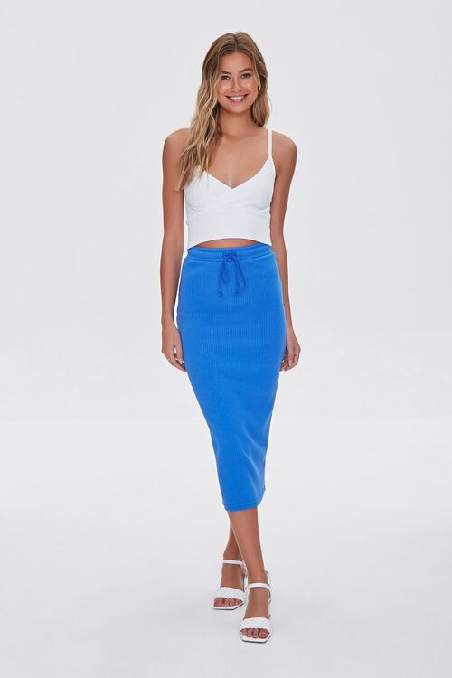 ROYAL BLUE  Fitted Drawstring Skirt, image 1