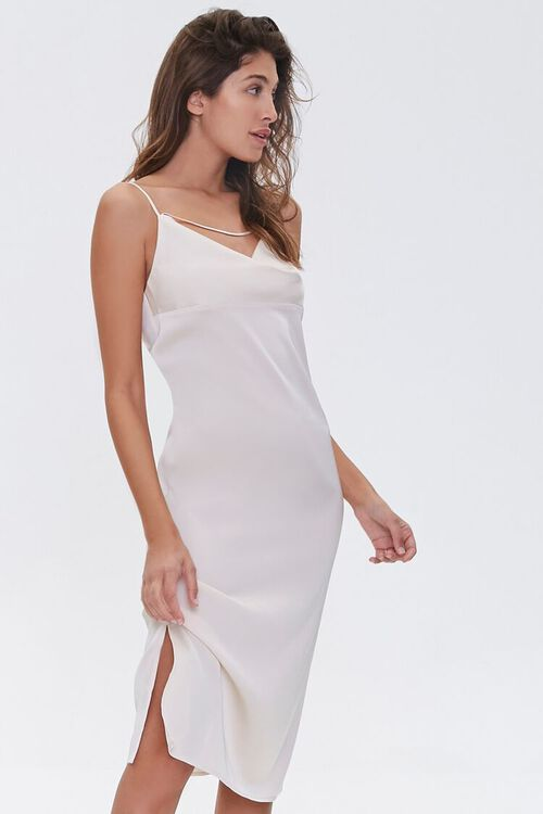 Satin Cowl-Neck Slip Dress, image 4