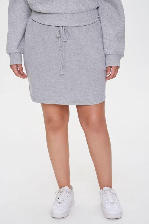 Plus Size French Terry Mini Skirt, image 2