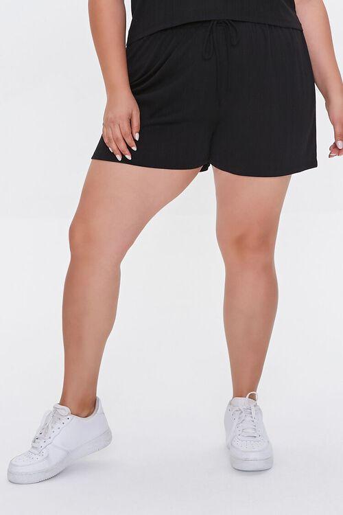 Plus Size Tee & Drawstring Shorts Set, image 6